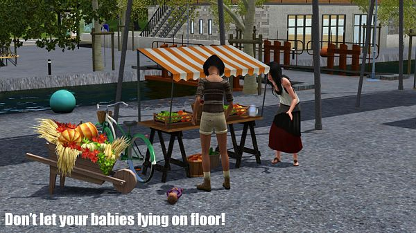Sims 3 objects, baby carrier