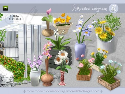 Sims 3 flowers, plants, set