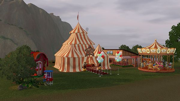 Sims 3 circus, lot, community