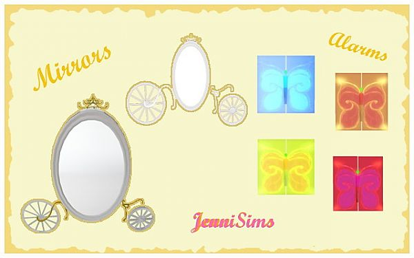 Sims 3 mirrors, alarm, objects, decor, sims3