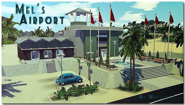 Sims 3 airport, lot, community