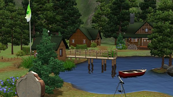 Sims 3 camp, lot, residential