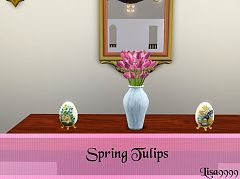 Sims 3 flowers, spring, decor, vase