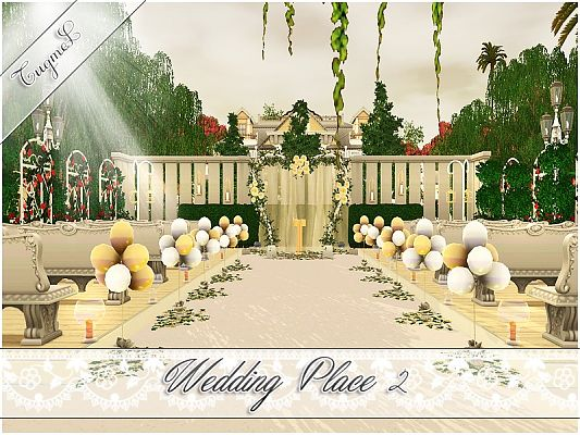 Sims 3 community, lot, wedding, place