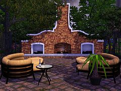 Sims 3 patio, garden, outdoor, set