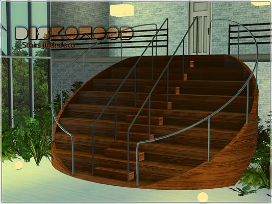 Sims 3 stairs, build, decor