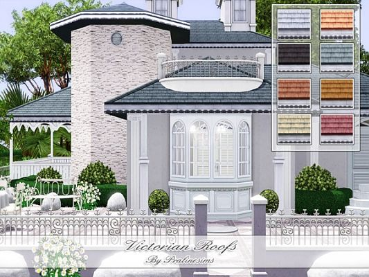 Sims 3 roof, build, decor