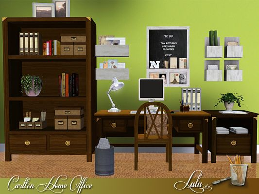 Sims 3 office, room, furniture, objects, decor