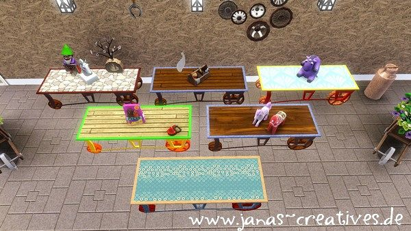 Sims 3 furniture, decor, coffee table, sims3