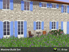 Sims 3 window, build, set, door