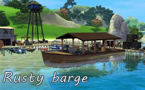 Sims 3 community, lot, barge, sims3