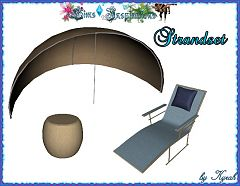 Sims 3 beach, set, outdoor