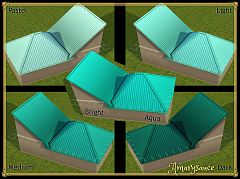 Sims 3 roof, colors