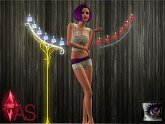 Sims 3 candle, light