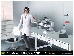 Sims 3 laboratory, decor, objects