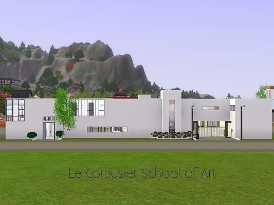 Sims 3 school, lot, community