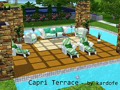 Sims 3 furniture, set, outdoor