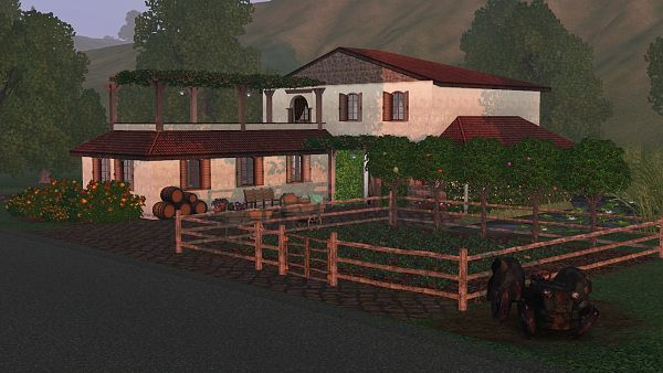 Sims 3 lot, community, winery