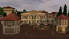 Sims 3 lot, community, cinema