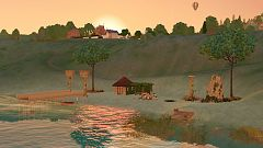 Sims 3 lot, community, beach