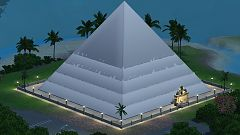 Sims 3 lot, community, pyramid
