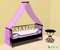 Sims 3 bed, bedroom, canopy