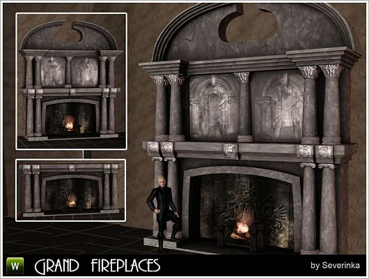 Sims 3 fireplace, build