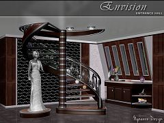 Sims 3 hallway, furniture, objects, decor, sims3