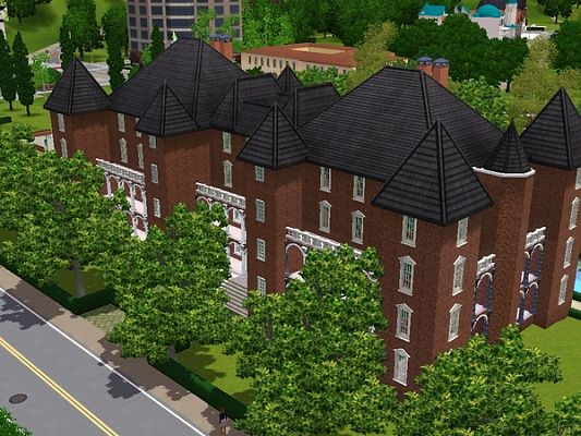 Sims 3 house, lot, residential, palace
