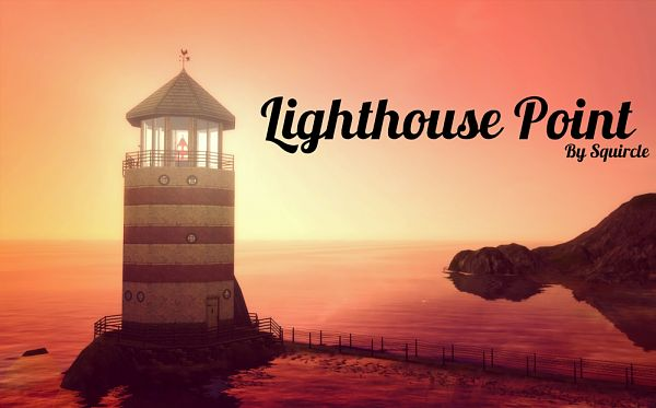Sims 3 lighthouse, lot