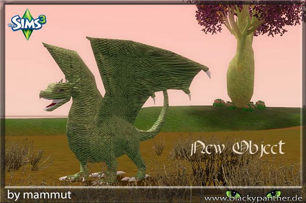 Sims 3 object, decor, dragon