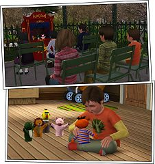 Sims 3 kids, furniture, set