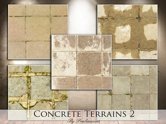 Sims 3 terrain paints, concrete