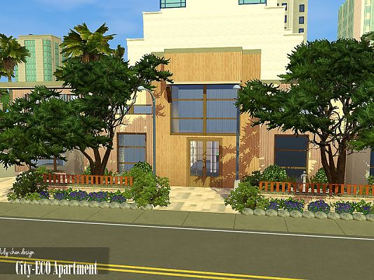 Sims 3 residential, lot, building, apartment, sims3