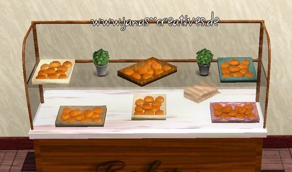 Sims 3 decor, object, set, bread, tray