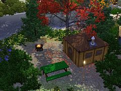 Sims 3 lot, community, camp