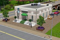 Sims 3 lot, community, caffee