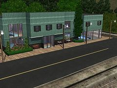 Sims 3 motel, lot, community