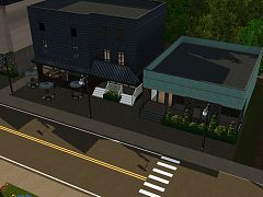 Sims 3 lot, community, gym