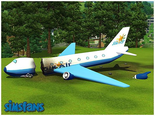 Sims 3 plane, decor, object