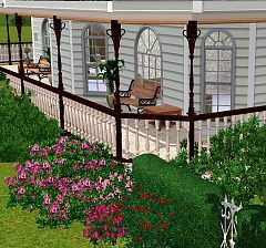 Sims 3 build, fence, balustrade, objects