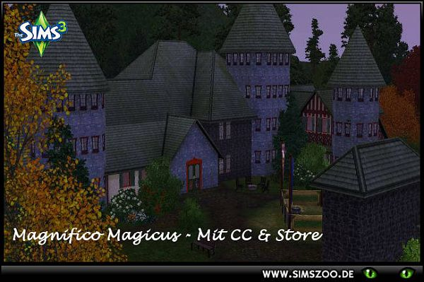 Sims 3 lot, community, store