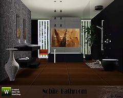 Sims 3 mirror, chair, table decoration, shower, bath, lamp, soaps.