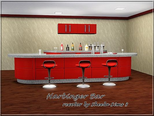 Sims 3 bar, objects, recolor