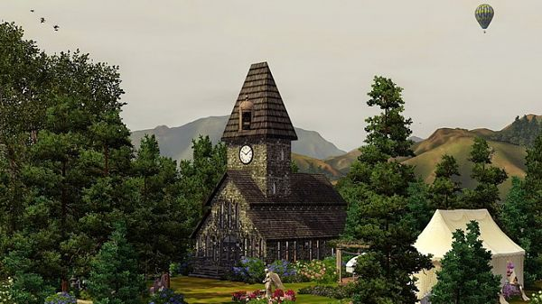 Sims 3 chapel, lot, wedding
