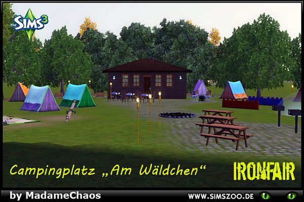 Sims 3 camping, community, lot