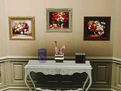 Sims 3 decor, paintings, portraits