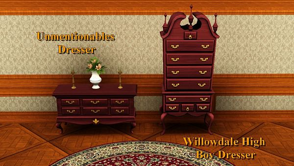 Sims 3 bedroom, furniture, bed, dresser