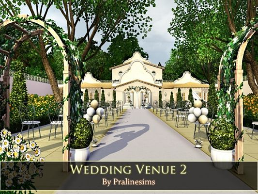 Sims 3 venue, wedding, lot