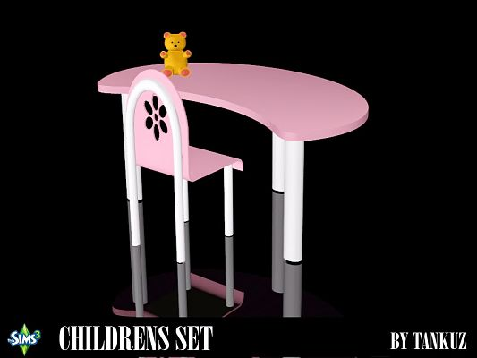 Sims 3 furniture, table, chair, toy